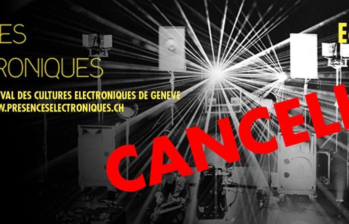 Présences Electroniques Genève - John Paul Jones BÂTIMENT DES FORCES MOTRICES 28.11.2015